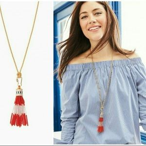 NWT Stella & Dot Brio Tassel Necklace